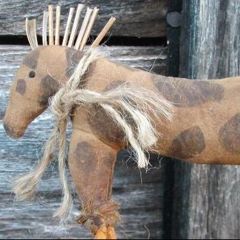 Primitive Horse -Shelf Sitter or Tuck - For your Hutch, Cupboard or Mantel